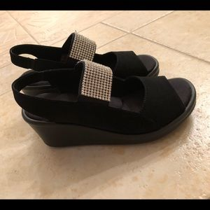 Shoes - black with bling!